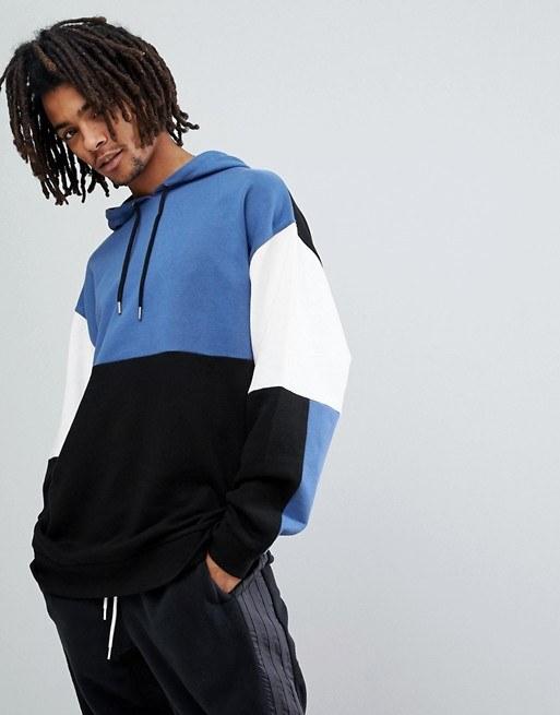hoodie-colorblock-bleu-homme